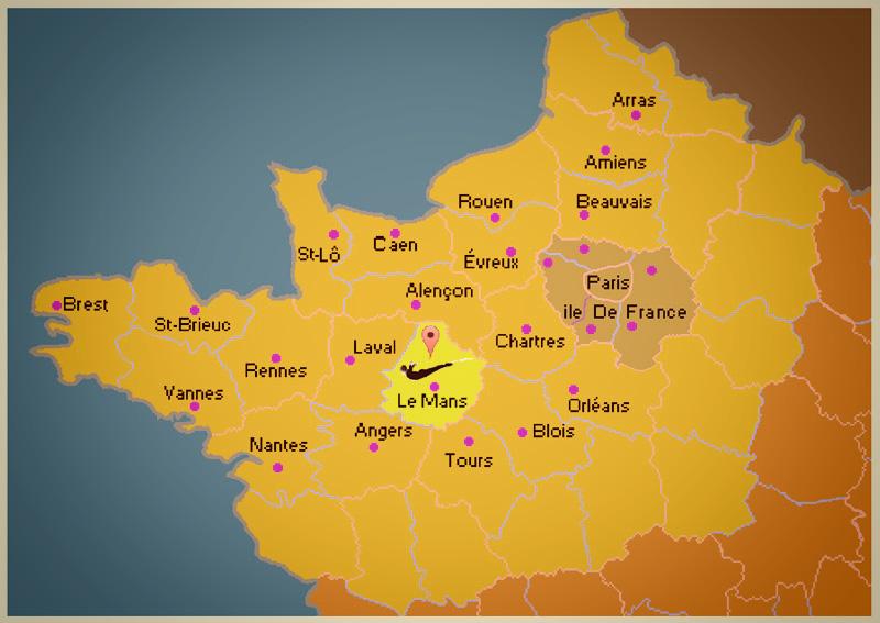 CARTE DE FRANCE Saut à l'élastique ST GEORGES LE GAULTIER