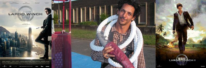 l'acteur Tomer Sisley allias Largo Winch saut elastique